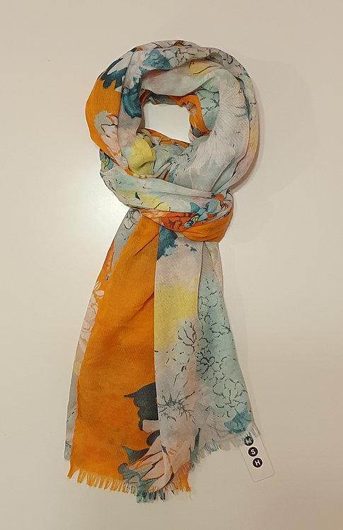 Orange & Green Floral Design