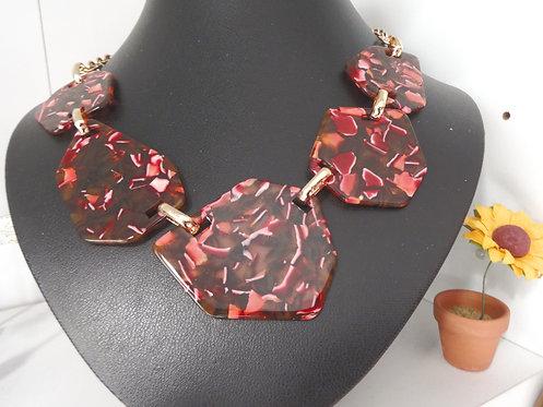Tortoise-Shell Resin Necklace