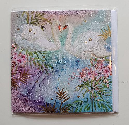 Swans & Flowers
