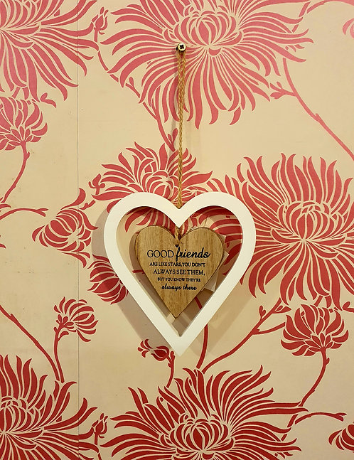 Good Friends Are Like Stars Wooden Heart