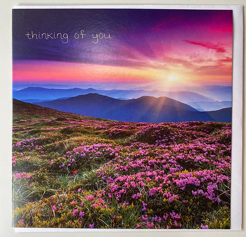 Thinking of you - Mountain Sunrise