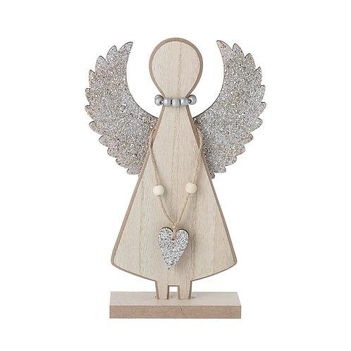 Glitter Wooden Angel