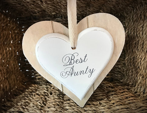 Best Aunty Wooden Plaque