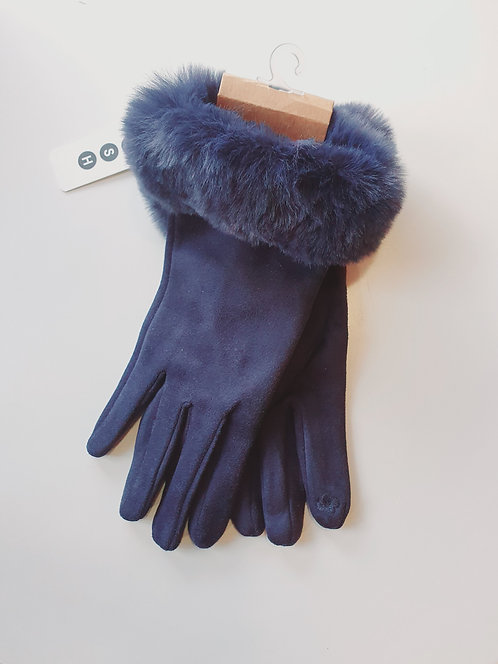 Navy Touch Screen Gloves