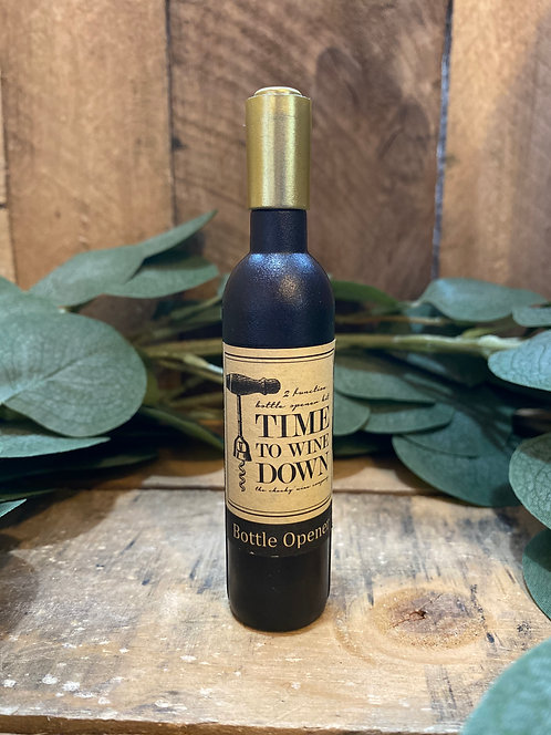 'Time To Wine Down' Magnetic Bottle Opener