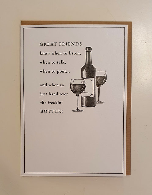 Great Friends - Hand Over The Bottle