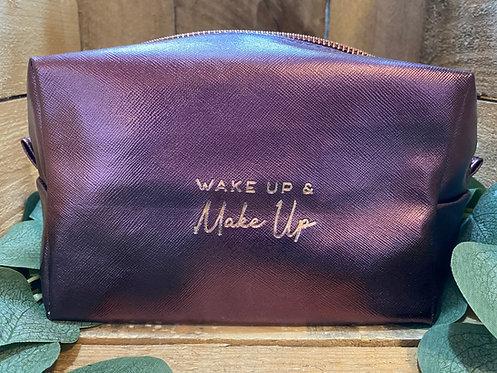 Wake Up and Make Up Cosmetics Bag