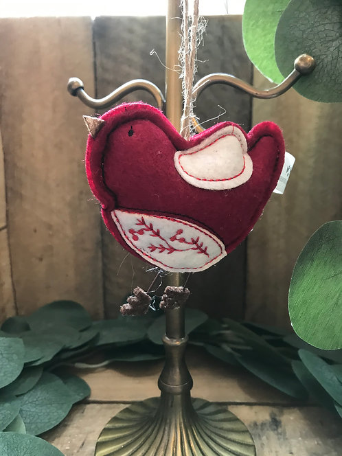 Cute Felt Hanging Robin