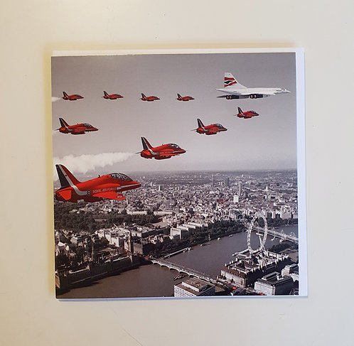 Red Arrows - B&W
