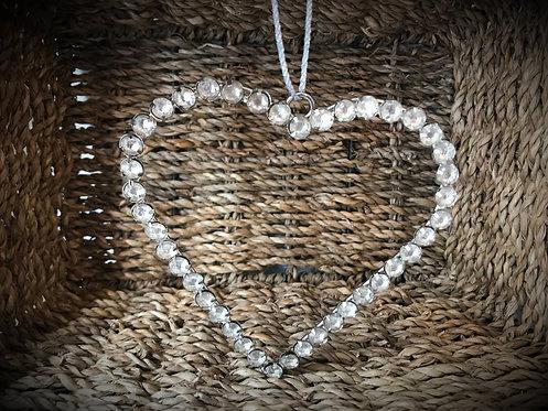 Vintage Style Diamante Hanging Heart