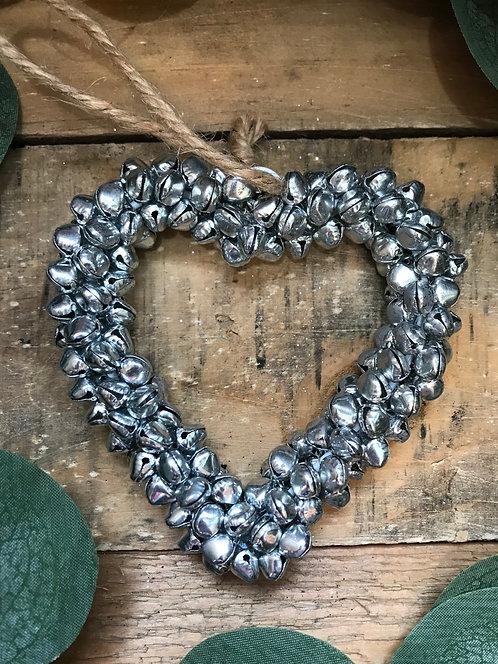 Silver Bell Heart
