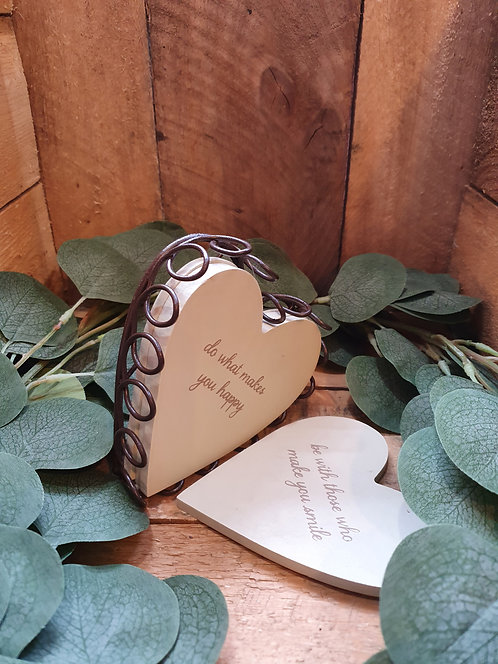 Follow Your Heart Wooden Heart Coasters