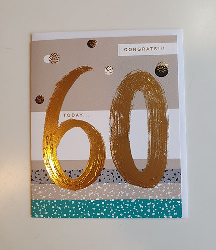 60 - Congrats! Brush Strokes