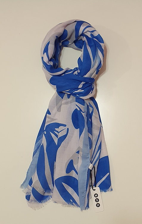 White & Blue Abstract Floral