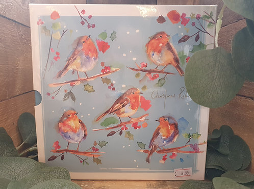 16 Pack Robin Christmas Cards