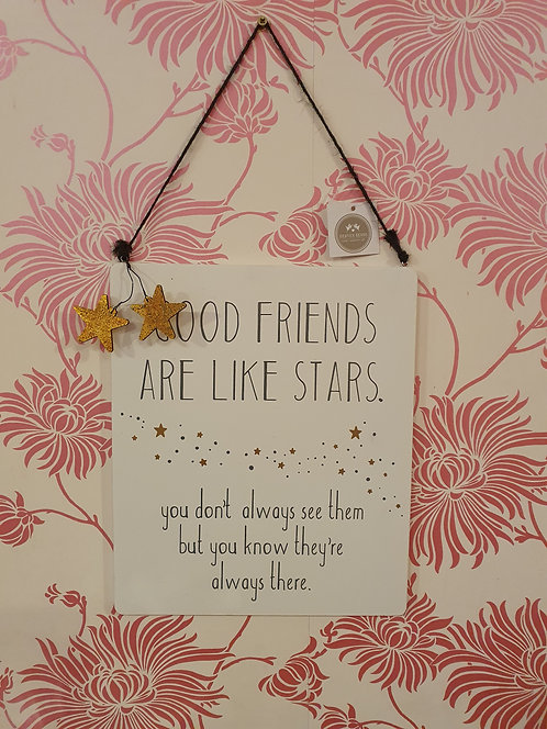 Large Wooden Friends Are Like Stars Sign