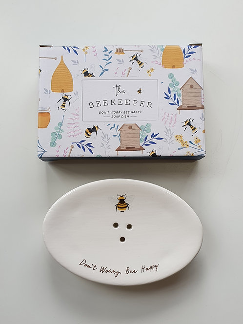 Soap Dish 'Don't Worry Bee Happy'