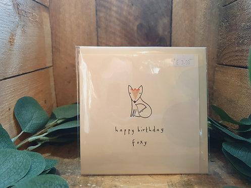 Foxy Happy Birthday