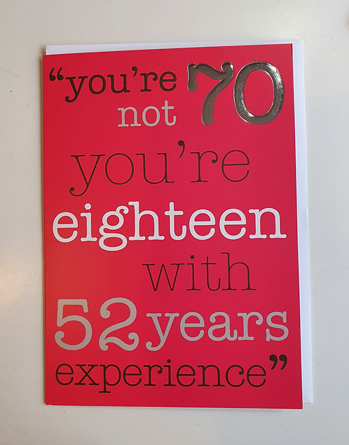 70 - With 52 Years Experience