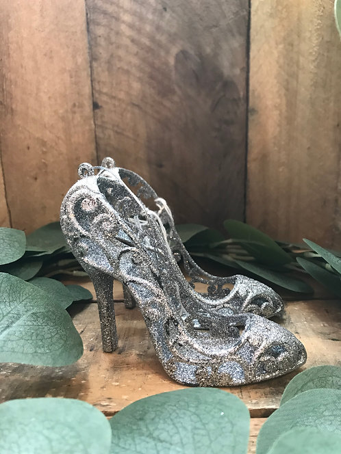 Silver Glitter Hanging shoes