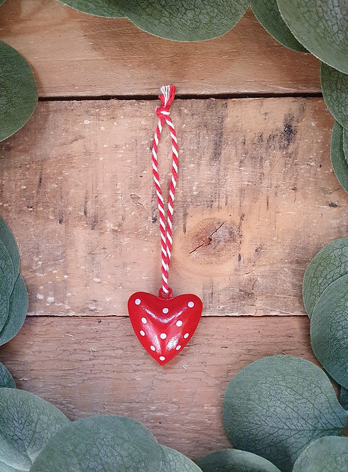 Hanging Metal Heart with Bell