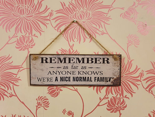 Remember We're a Nice Normal Family