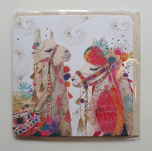Two Carnival Llamas