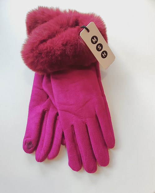 Pink Touch Screen Gloves