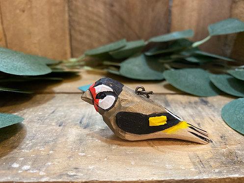 Wooden British Garden Bird Keyring