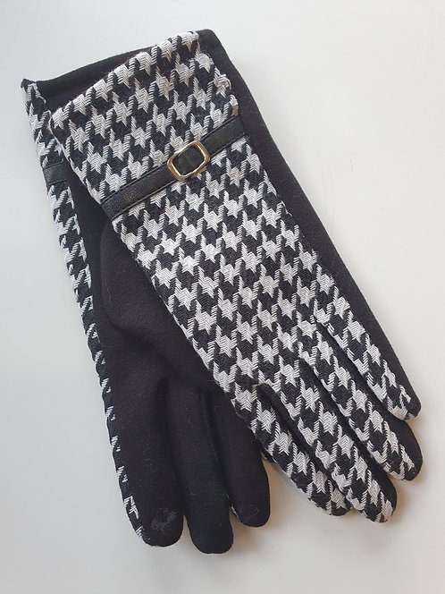 Hounds Tooth Touch Screen Gloves