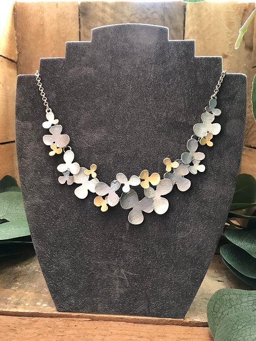 Matte Multi Flower Necklace