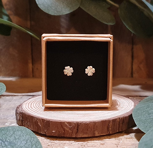 Sterling Silver Four-Leaf Clover Studs