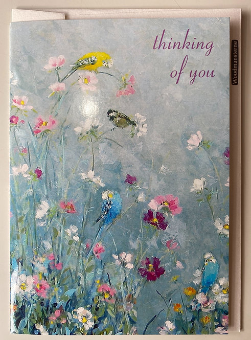 Thinking of you - birds & flowers