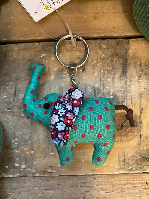 Elephant Keyring Green