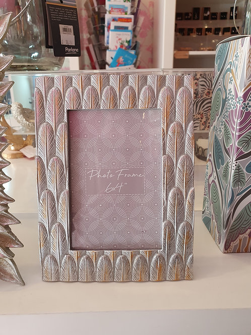 Silver Feather Photo Frame