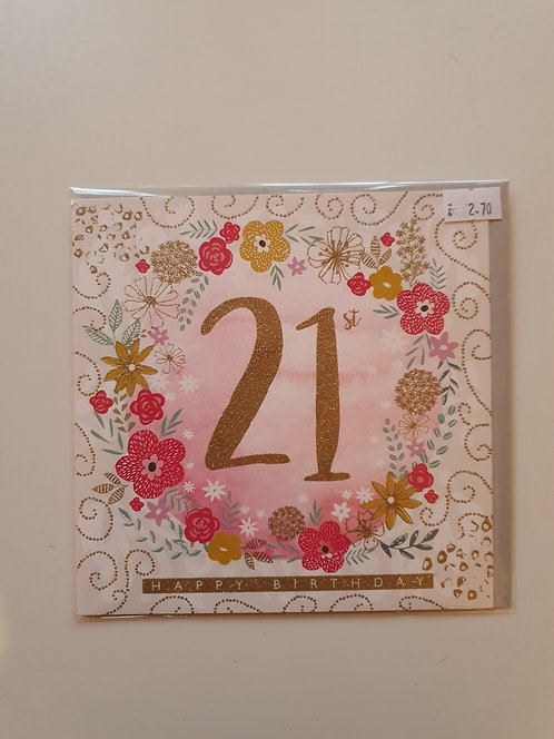 21st - Floral Ring