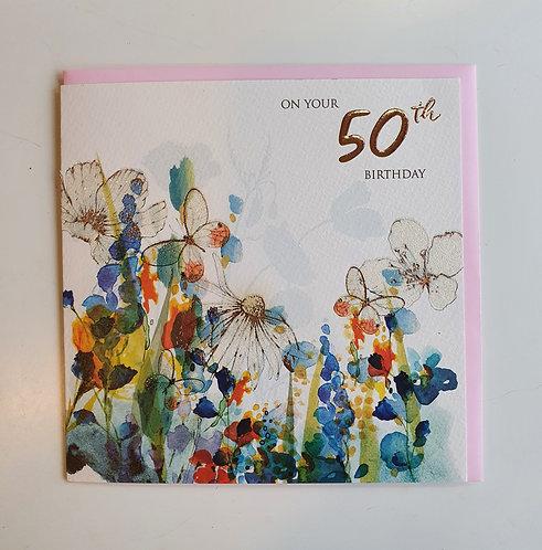 50th - Floral & Bufferflies