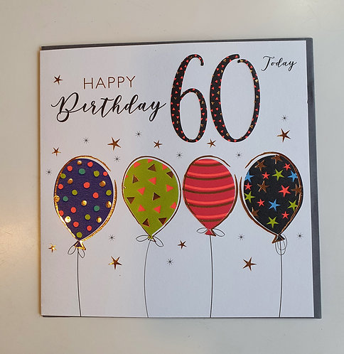 60th - Balloons