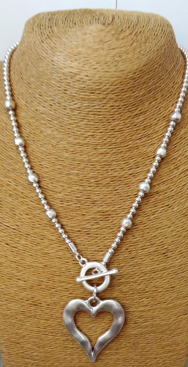 Heart and Bead Necklace