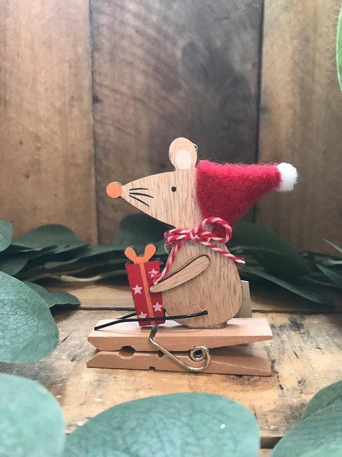 Wooden Mouse Peg