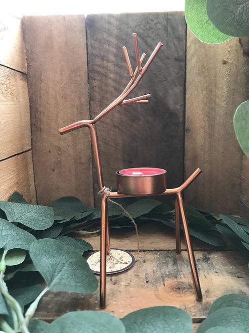 Copper Reindeer Tealight holder