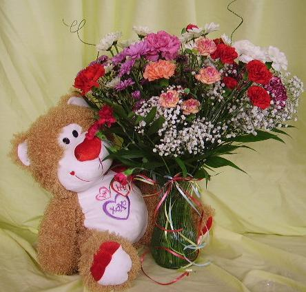 $50 Mixed Vase with Large Bear
