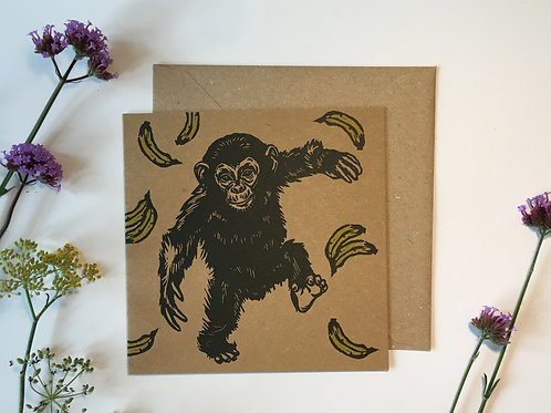 Chimp Greetings Card