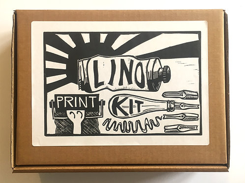 Lino Print Kit, for making your own prints. An ideal gift.