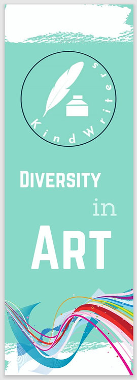 Kind Writers Official Diversity in Art Bookmark