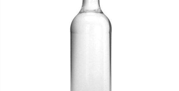1 Liter Geradhalsflasche (leer)