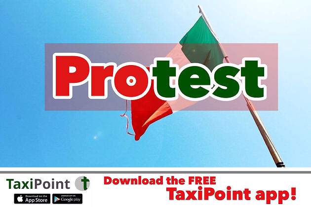 Taxi drivers in Italy go on a fourteen hour strike against ride