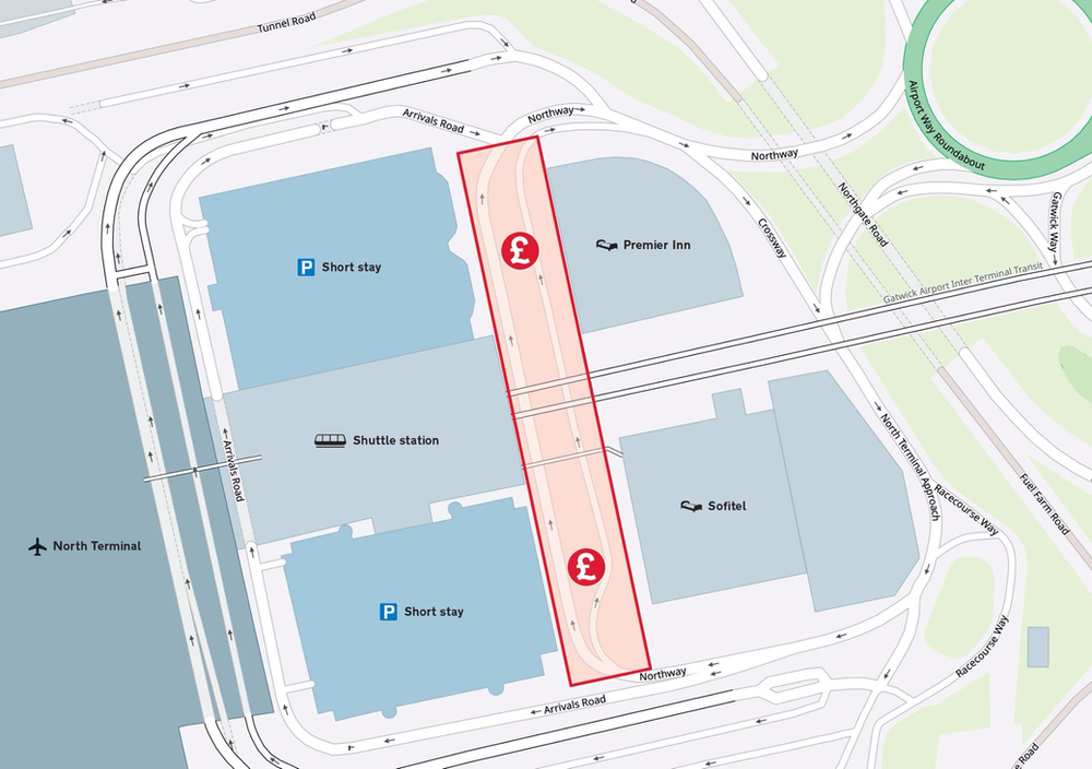 New Gatwick Airport £5 minimum drop off fee to start on 8 March