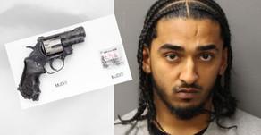 Police intercept London minicab and chase down gun-carrying drug dealing passenger