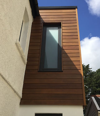 cedar cladding to first floor extension